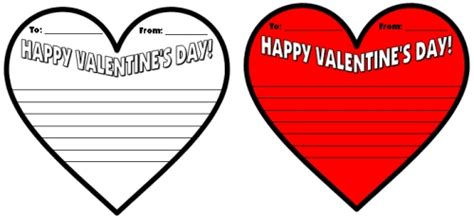 Valentines Cards Word Template by S Day Teaching Resources Lesson Plans For