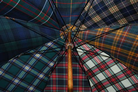 plaid tartan tartan plaid umbrella cotton canopy fabric samples