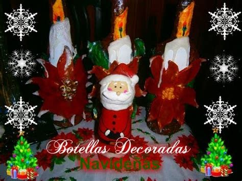 imagenes de santa claus en botella como hacer botellas decoradas navide 241 as how to make