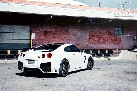 nissan gtr matte white ag luxury wheels nissan gt r forged wheels