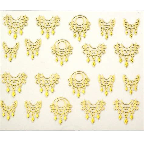 Kaos Silver New Design xf6059 2015 new gold silver fashion style water transfer stickers 3d design diy nail