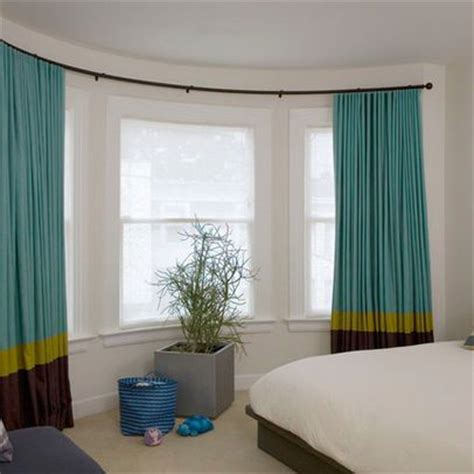 curved curtain rod for bow window drapery rods contemporary curtains and curtains on