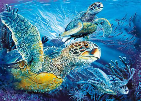 Batik Jumbo Ethnic 271115 79 glow in jigsaw puzzle sea turtles 1000 pieces clementoni