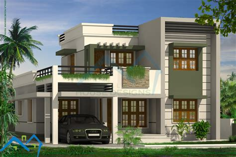 modern home design in kerala contemporary house plans with flat roof modern house