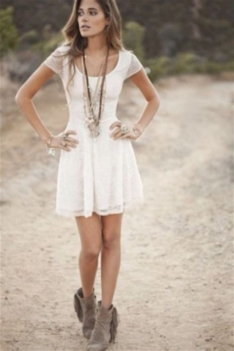 short white dresses on pinterest cowboy boot outfits short white summer dress with short boots pictures photos
