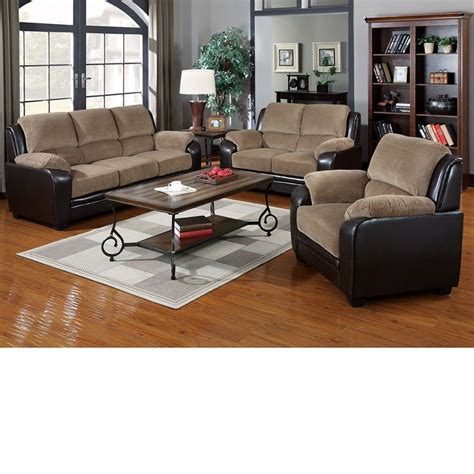Corduroy Living Room Set Dreamfurniture 50450 Oisin Light Brown Corduroy Brown Pu Sofa Set