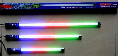 Lu Neon Untuk Aquarium jual lu tl neon akuarium 12 w 3 warna rgb aquarium waterproof kedap air toko sinar terang