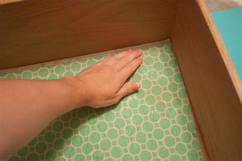making fabric drawer liners lining drawers with fabric using liquid starch