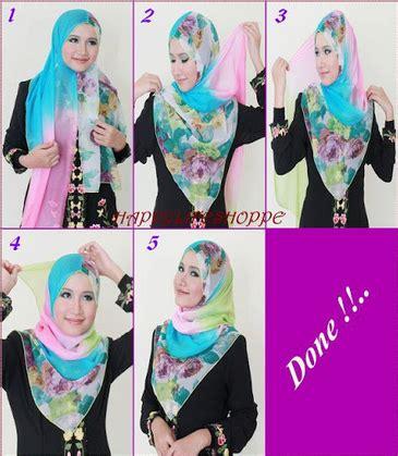 gambar tutorial hijab paris syar i gambar tutorial hijab modern syar i