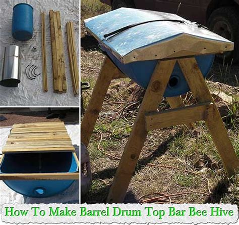 how to build a top bar bee hive how to make barrel drum top bar bee hive