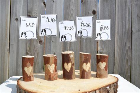 wedding reception table number ideas diy unique wedding reception table numbers handmade weddings 7