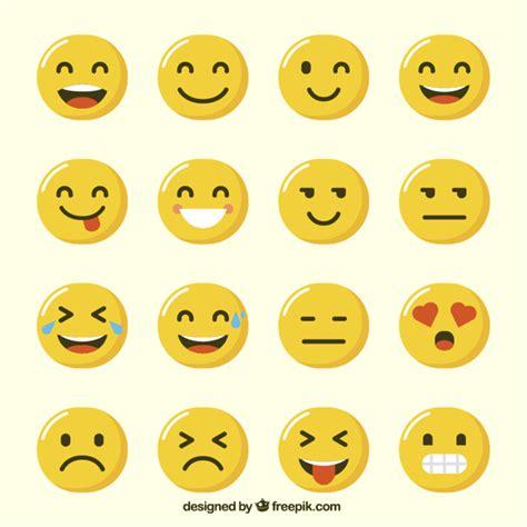 emoji vector free variety of funny emoji in flat design vector free download