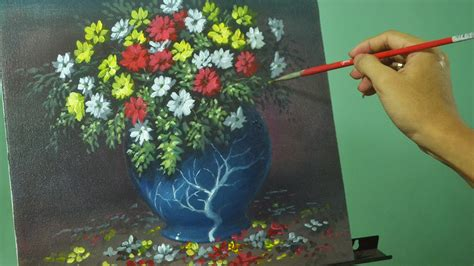 acrylic painting lessons flowers acrylic painting lesson flowers in the vase by jm