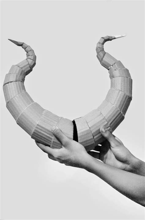 How To Make A Horn Out Of Paper - oishari diy lightweight costume horns