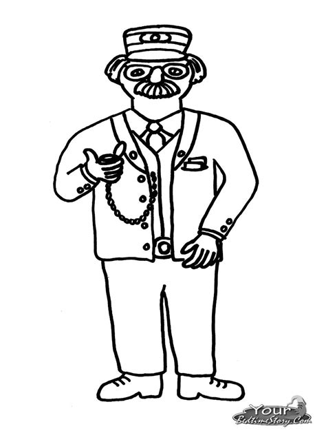 coloring pages train conductor conductor colouring pa clipart panda free clipart images