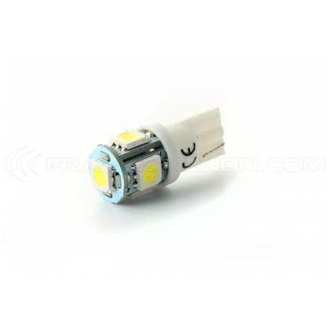 lada led 5w 2 x bulbs 5 leds white led smd 5 led t10 w5w