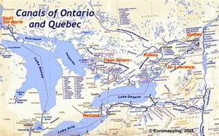 map of canada waterways canadian canal society ontario overview map
