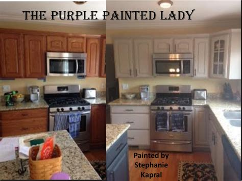 spray paint laminate kitchen cabinets do your kitchen cabinets look tired the purple painted lady