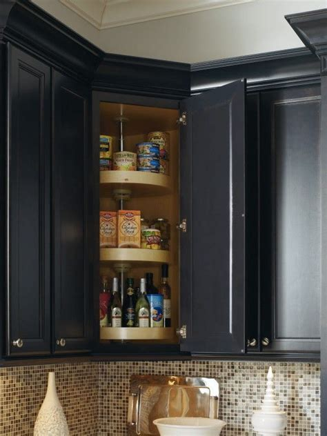 upper corner cabinet lazy susan upper corner kitchen cabinet solutions live simply by annie