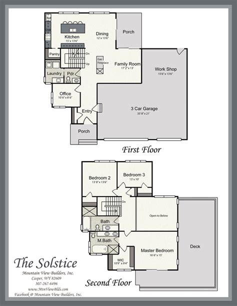 Solstice Floor Plan by The Solstice By Mountain View Builders