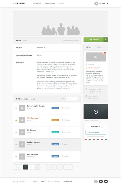 themeforest company profile opening job board psd template by bestwebholding