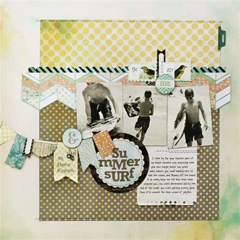 Basic Grey Sale At Scrapbookcom layout summer surf new basicgrey serenade