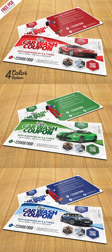 car wash coupon template car wash coupon template psd set uxfree