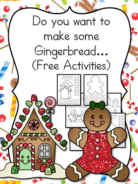 gingerbread man printable book for kindergarten gingerbread man cutout template and lesson plan