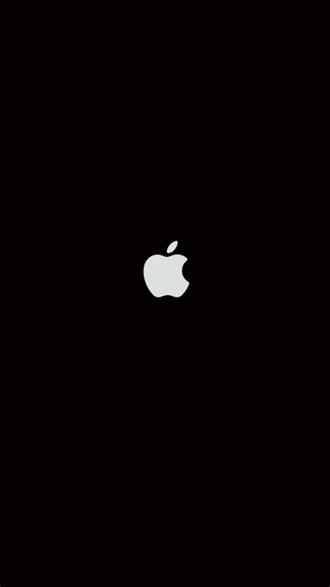plain black iphone  wallpaper  logos iphone