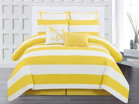 yellow queen comforter delia stripe 8pc comforter set yellow queen home woot