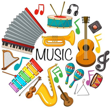 immagini clipart gratis strumenti musicali foto e vettori gratis