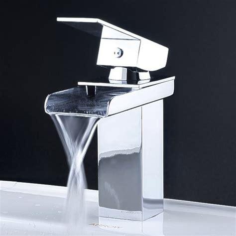 contemporary waterfall bathroom faucet  chrome finish  modern bathroom faucets