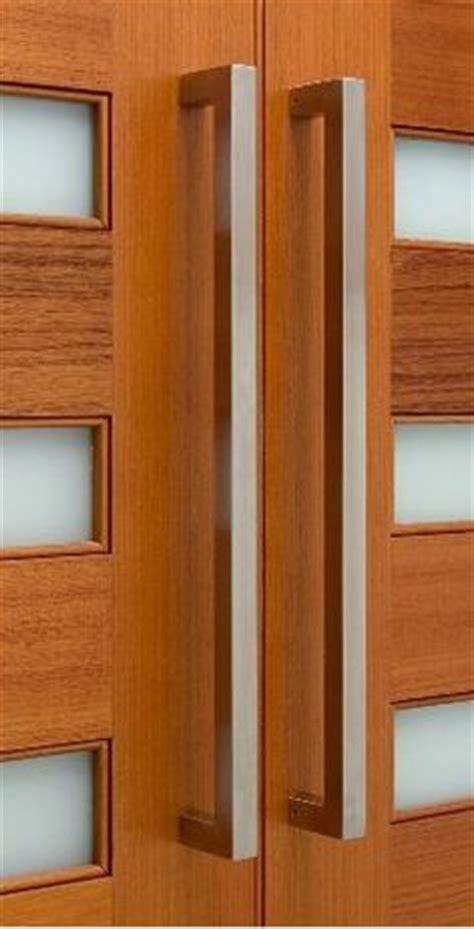 front door pulls exterior door on stainless steel squares and