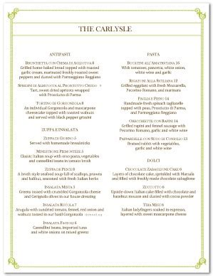 italian fine dining menu template simple menus