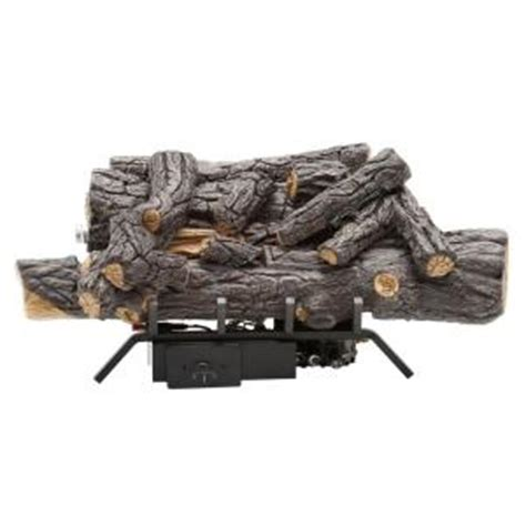 home depot gas fireplace logs emberglow oak 18 in vent free gas