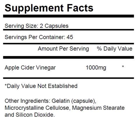 k supplement 600 mg apple cider vinegar 600mg per serving 90 tablets krk