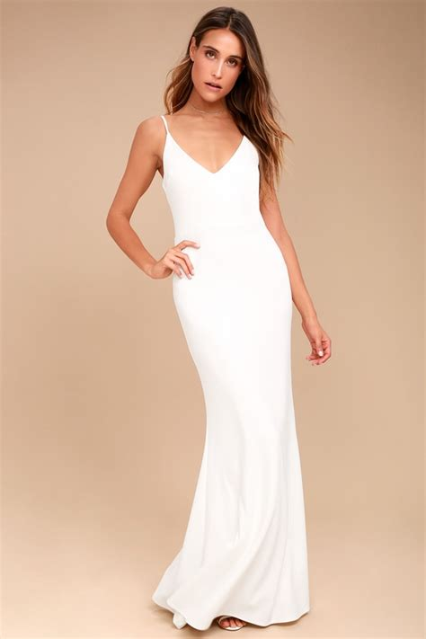 White Black Maxi white maxi dress mermaid maxi dress bodycon maxi