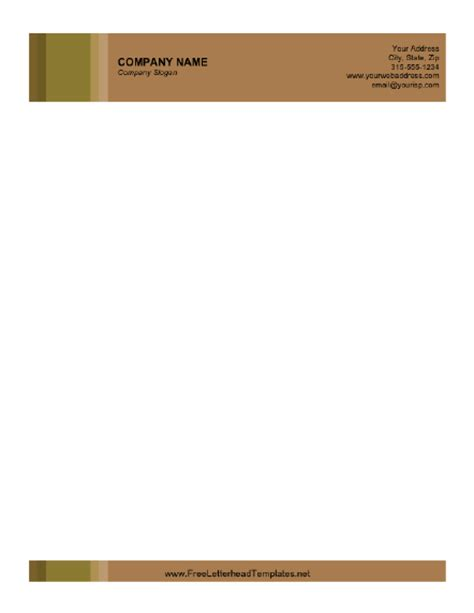 Business Letterhead Design Templates Free Business Letterhead With Brown Background