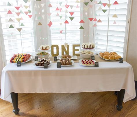 baby girl first birthday party decorations at home ideas the manions emery s first birthday party