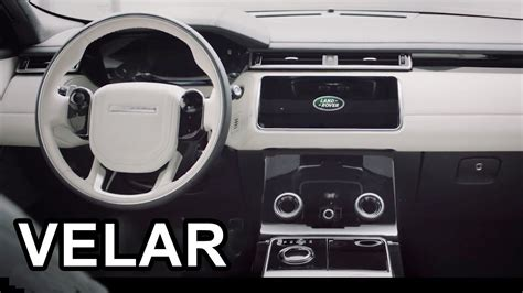 2018 range rover velar interior viyoutube