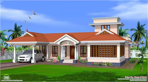 plans home style single floor house design kerala home plans