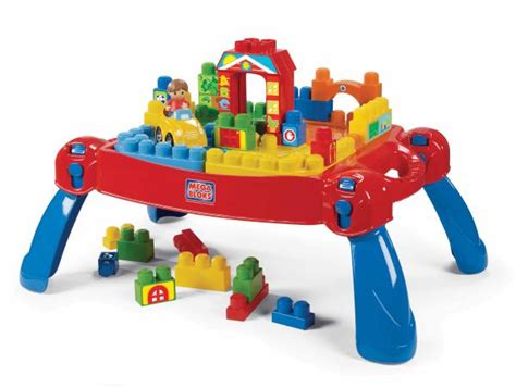 mega bloks builders big building table mega bloks play n go table toys thehut com