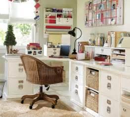 fabriquer bureau blnc paniers tress tiroirs home office decor ideas room the week