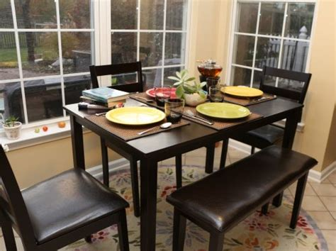 bench dinette set home life 5pc dining dinette table chairs bench set