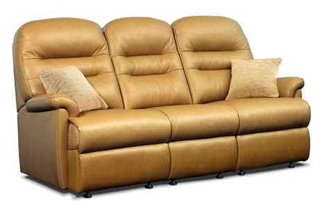 sherborne upholstery keswick standard leather fixed 3 seater settee sherborne