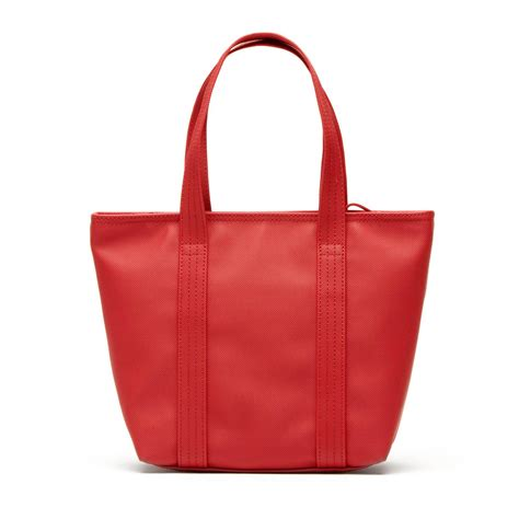 Lacoste Classic Tote Bag lacoste womens classic tote bag in coated canvas