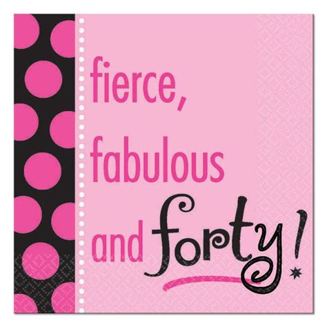 9 Fabulous In by 40th Birthday Fabulous 40th Birthday Beverage Napkins