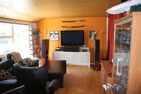 orange walls living room decorating a living room in orange wall room decorating