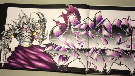graffiti blackbook speedart  character wers youtube