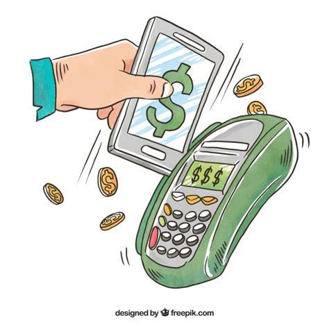 handy per kreditkarte zahlung handy der kostenlosen vektor